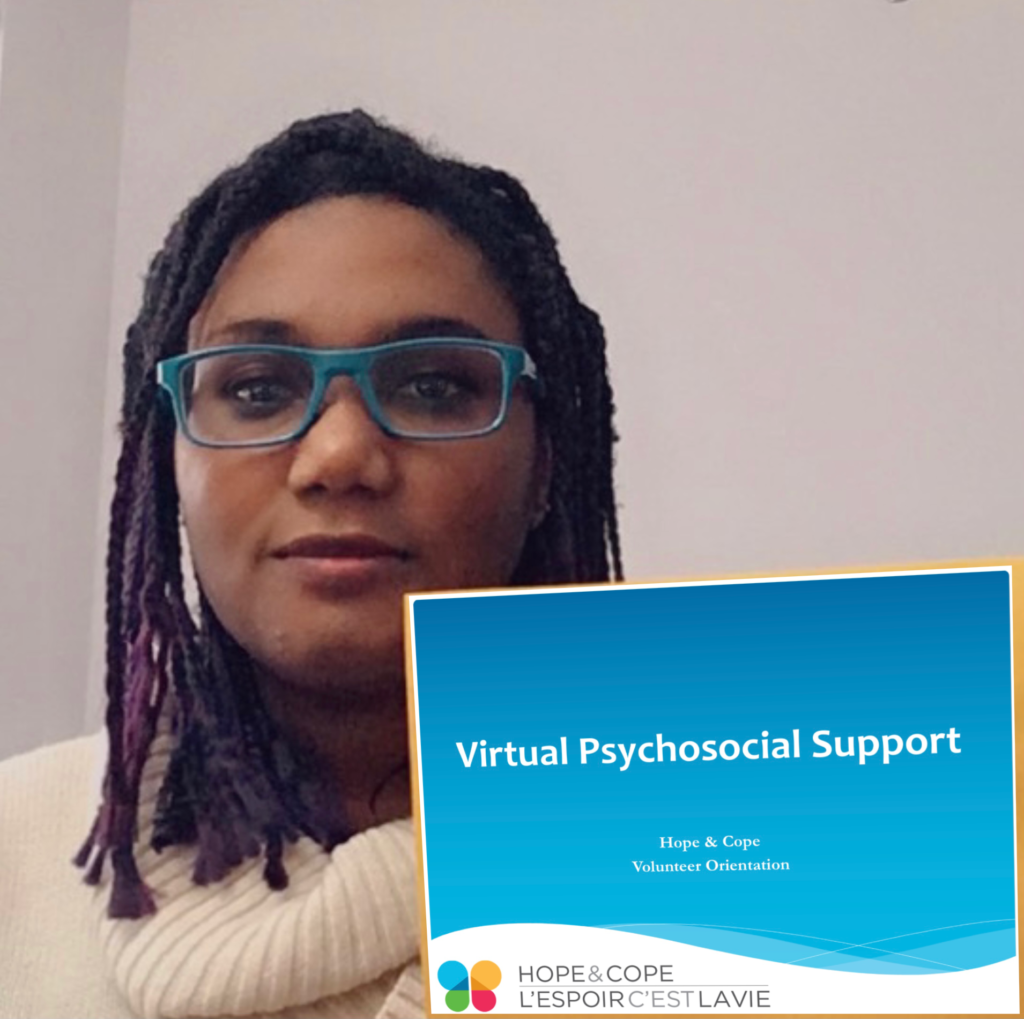 Social work intern, Ruthanna Okorosobo, has helped develop our virtual programs, leading the initiative to adapt training documents to accommodate online platforms.