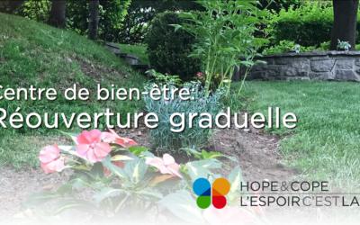 Centre de bien-être: Réouverture graduelle dès le 5 juillet!